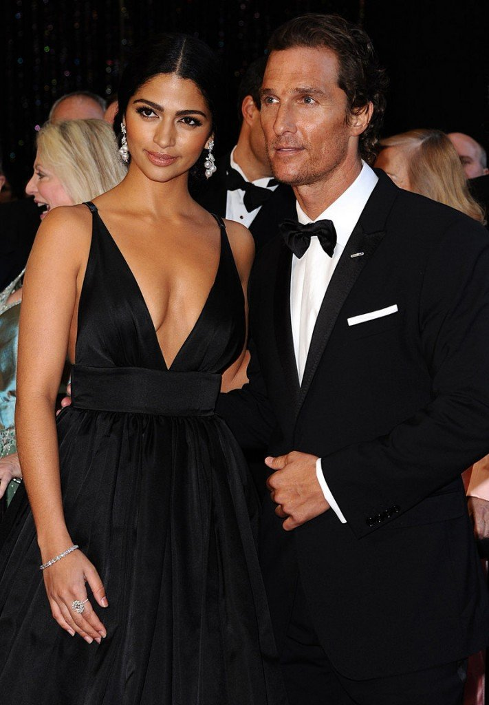 Matthew McConaughey and Camila Alves arrive at the Oscars in Los Angeles in 2011.