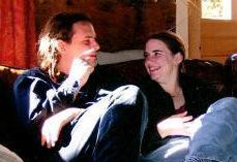 Caitlan Coleman, right, sits with her husband, Josh, in this undated photo provided by her father, James Coleman. The couple disappeared in Afghanistan in October.