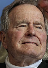 Former President George H.W. Bush in a June 12, 2012, photo.