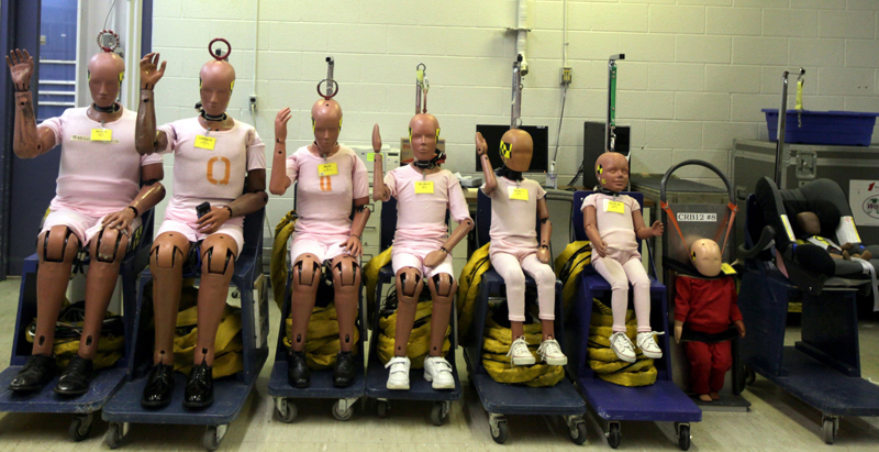 Hybrid III crash-test dummies, created in the 1970s by GM, are still widely used today. But four developments in anthropomorphic test-device technology soon could lead to changes in crash-test procedures. 04000000 FIN krtbusiness business krtnational national krtedonly mct 04007010 04011000 04011002 AUT automotive equipment engineering krtauto auto automobile car krtconsumergoods consumer goods krtgoods goods krtmanufacturing manufacturing krtnamer north america krtusbusiness luxury goods u.s. us united states 13006001 krtresearch research krtscience science krtscitech SCI science research survey 2013 krt2013