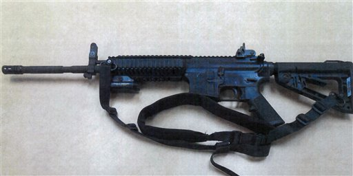 This image provided by the Fontana Unified School District Police shows a Colt LE6940 semi-automatic rifle, one of 14 purchased by the Fontana Unified School District to help provide security for the district's schools. The weapons, which cost $1,000 each, are accurate at longer range and can pierce body armor.