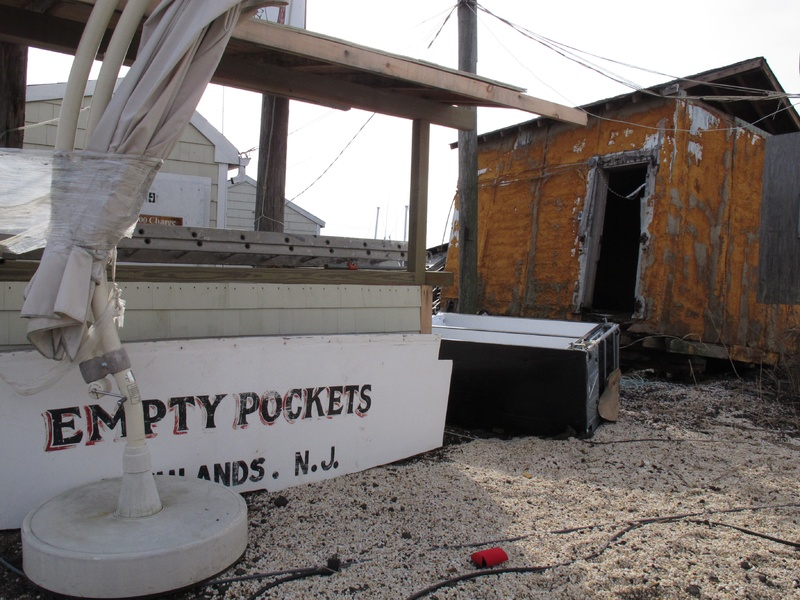 A fishing boat named Empty Pockets sits in a parking lot in the Belford fishing port in Middletown, N.J., last month. The port sustained nearly $1 million in damages from Superstorm Sandy, some of which its owners hope to recoup through federal storm aid.