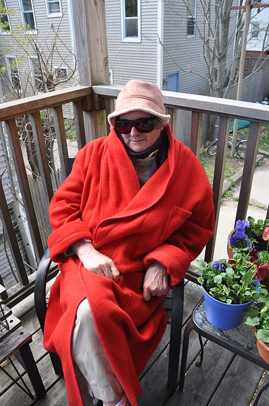 """Ed in Red Following Cataract Surgery"" by Diane Hudson."