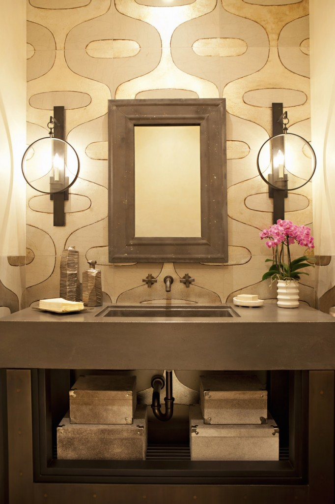 It makes sense to spend a little more to dress up a powder room or tiny kitchen, because pricey materials will be used in small quantities.