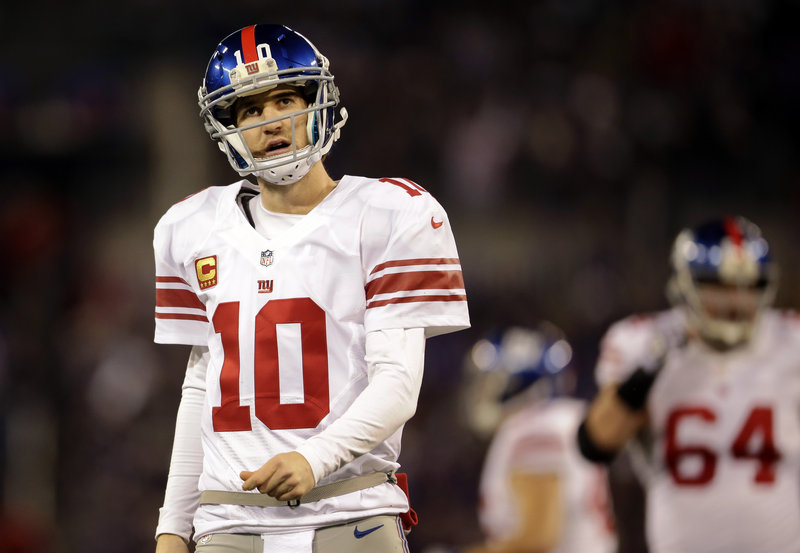 Eli Manning passed for almost 4,000 yards and directed an offense that finished fifth in the NFL with 429 points, but the Giants lost five of their last eight games after a 6-2 start.