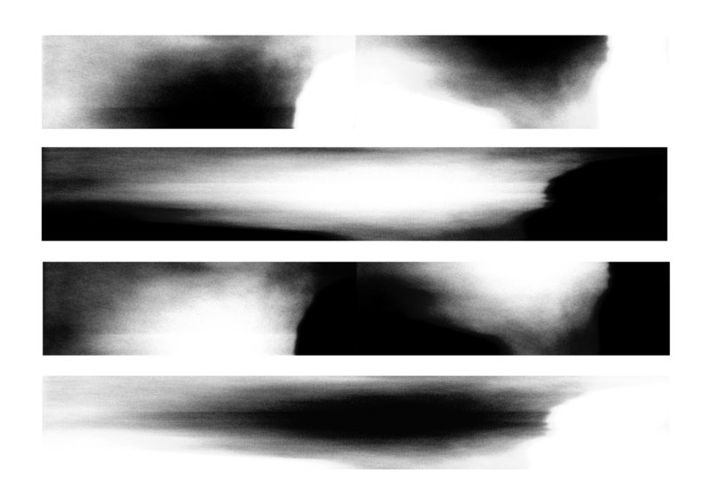 """Damir Porobic's """"Transforming Image: Memory I, II, III, IV,"""" archival inkjet print, 2006-13, part of the Center for Maine Contemporary Art's """"Prints: Breaking Boundaries"""" show on display at the Portland Public Library through Feb. 23."""