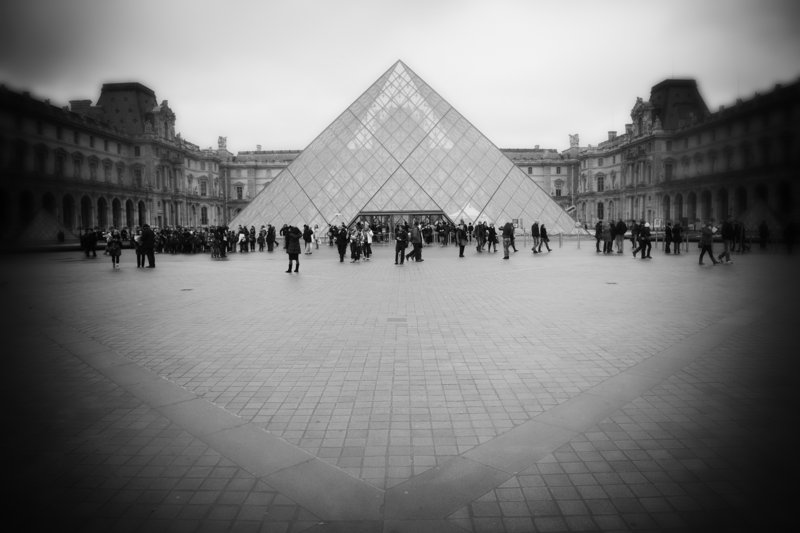 """Louvre Entrance,"" from ""Visual Whispers"" by Dan Dow."