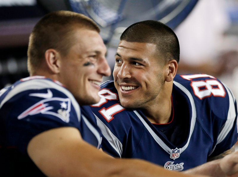 Rob Gronkowski and Aaron Hernandez, two of the NFL's premier tight ends, played together in only five games this year, because of injuries.