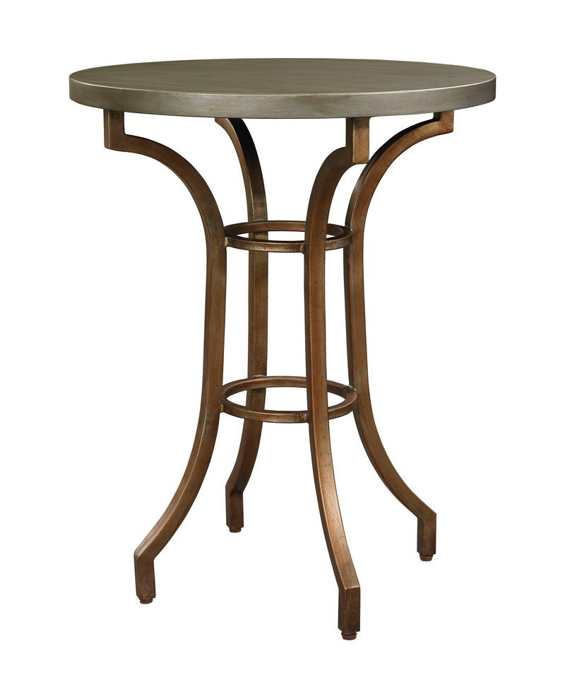 A metallic end table from Bassett Furniture's HGTV Home collection.