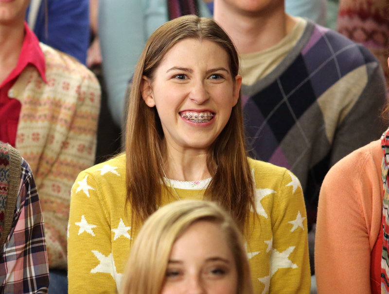 "Eden Sher plays Sue Heck in ""The Middle."" The braces can be removed, but likely won't be, at least for now."