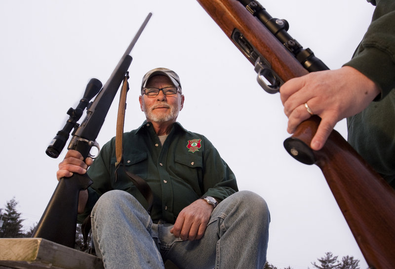 "Thom Watson of Bath says Maine hunters might be willing to give up high-capacity magazines. ""Nobody I know carries them,"" he said."
