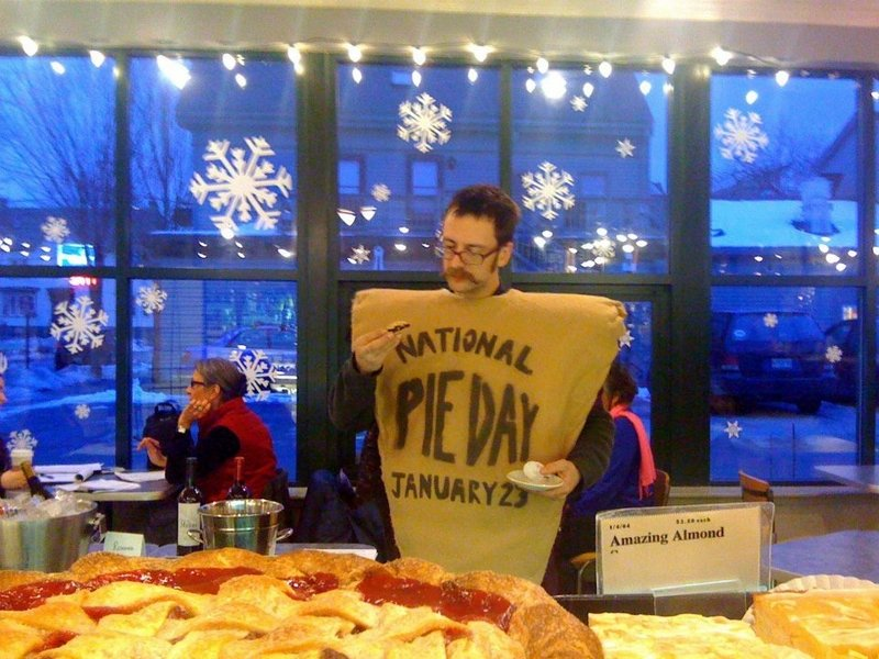 Ned Swain has retired his well-worn pie suit, but the unabashed pie fanatic will again be celebrating in a big way National Pie Day, which falls on Wednesday this year.