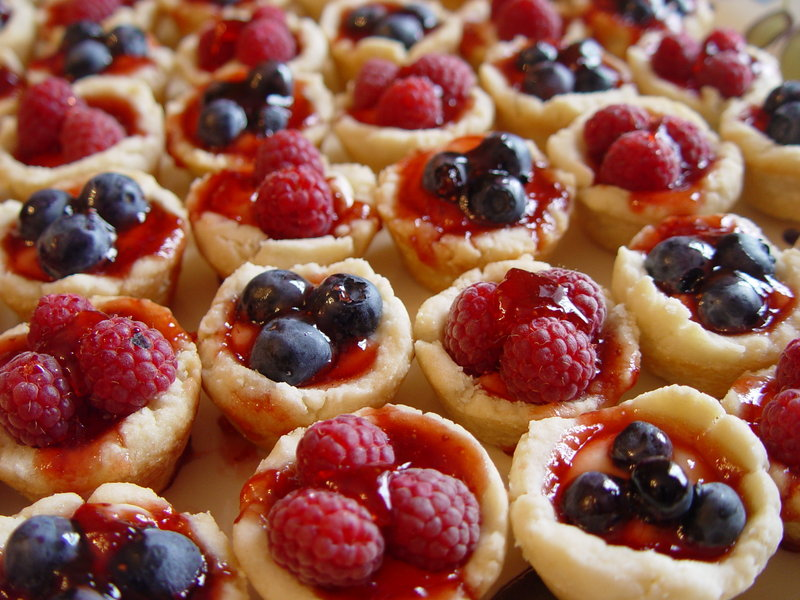 The LimeRock Inn in Rockland serves dozens of mini versions of its popular tarts during the annual Pies on Parade festivities.