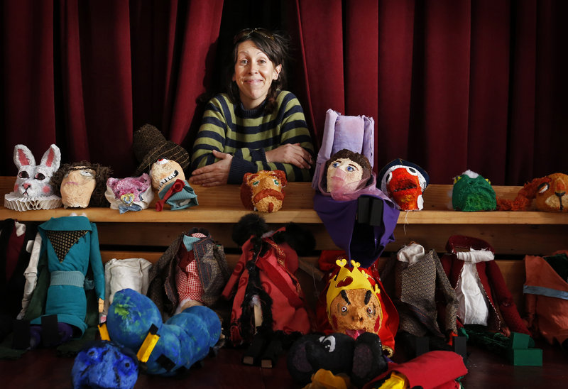 "Blainor McGough, executive director of Mayo Street Arts in Portland, will use some of these marionettes in an upcoming production of ""Alice in Wonderland."""