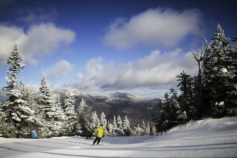 Waterville Valley not only benefits from its location in an area that gets a lot of natural snow, but also has snowmaking across all of its trails.
