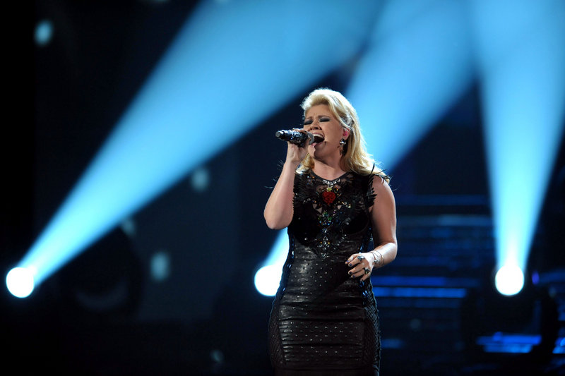 Kelly Clarkson performs in Los Angeles last year.
