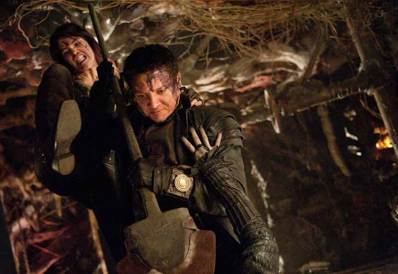 Gemma Arterton as Gretel and Renner battle a witch they've been hired to exterminate.