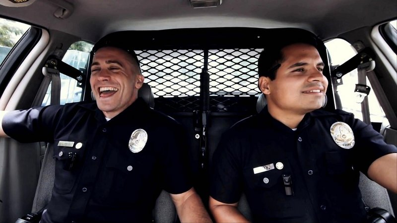 "Jake Gyllenhaal and Michael Pena in ""End of Watch."""