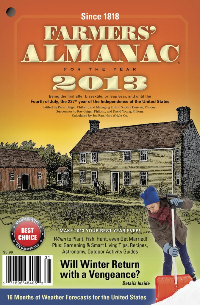 2013 Farmers' Almanac cover