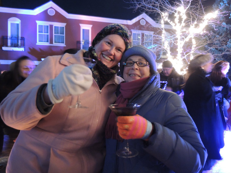 Ice Bar first-timers Lisa and Jani Darak-Druck of Westbrook weren't deterred by the coldest weather in years.