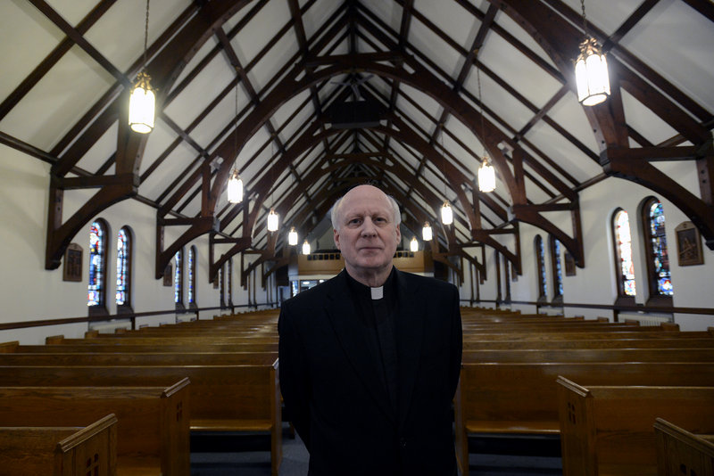Monsignor Michael Henchal, pastor of St. John the Evangelist Church in South Portland as well as three other local Roman Catholic parishes, told parishioners on Sunday that he will get them answers about a possible sale of church buildings and options for joining another parish.