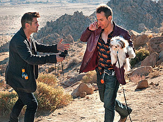 "Colin Farrell, left, and Sam Rockwell in ""Seven Psychopaths."""