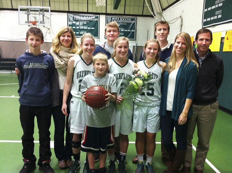 From keeping score to running the video to heading the athletic council – from playing in the past to playing in the present and future – the Veroneau family has made memories and is poised to make many more for the basketball programs at Waynflete.
