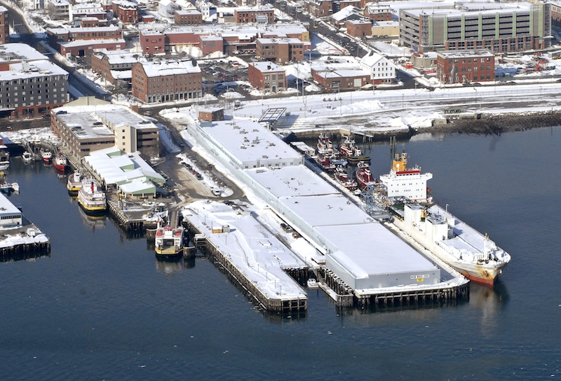In this 2009 file photo, an aerial shot of the Maine State Pier along the Portland waterfront.