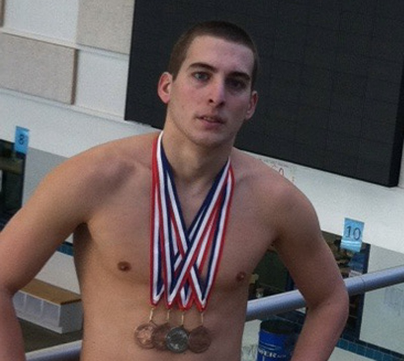 Westbrook's Keegan Goan, a junior at Elms College in Springfield, Mass., starred in the butterfly and individual medley.
