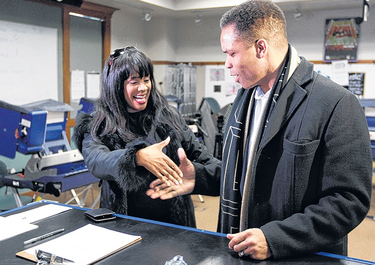 Rep. Jesse Jackson Jr., D-Ill., and his wife, Chicago Alderman Sandi Jackson, are seen on March 9, 2012, at a polling station in Chicago. On Friday, Jackson pleaded guilty to federal charges, including a scheme to use campaign funds for personal expenses.