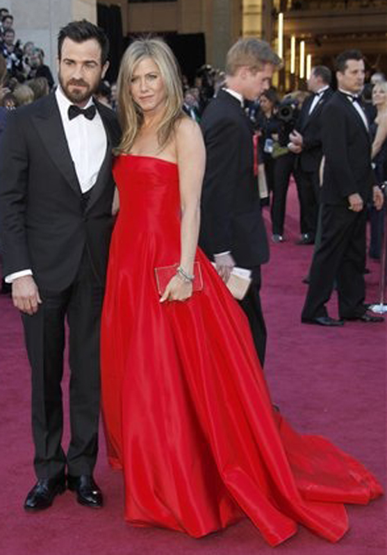 Justin Theroux, actress Jennifer Aniston Oscars;Oscar