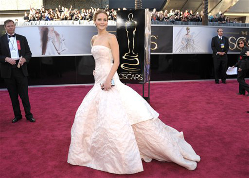 Actress Jennifer Lawrence arrives at the 85th Academy Awards Sunday in Los Angeles. Oscars;Oscar