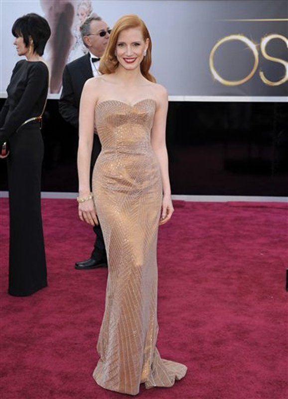 "Jessica Chastain is nominated for best actress for ""Zero Dark Thirty."" Oscars;Oscar"