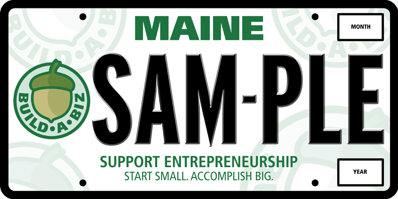 Proceeds from the sale of the special license plates would go to support entrepreneurial programs aimed at children between the ages of 5 and 15.