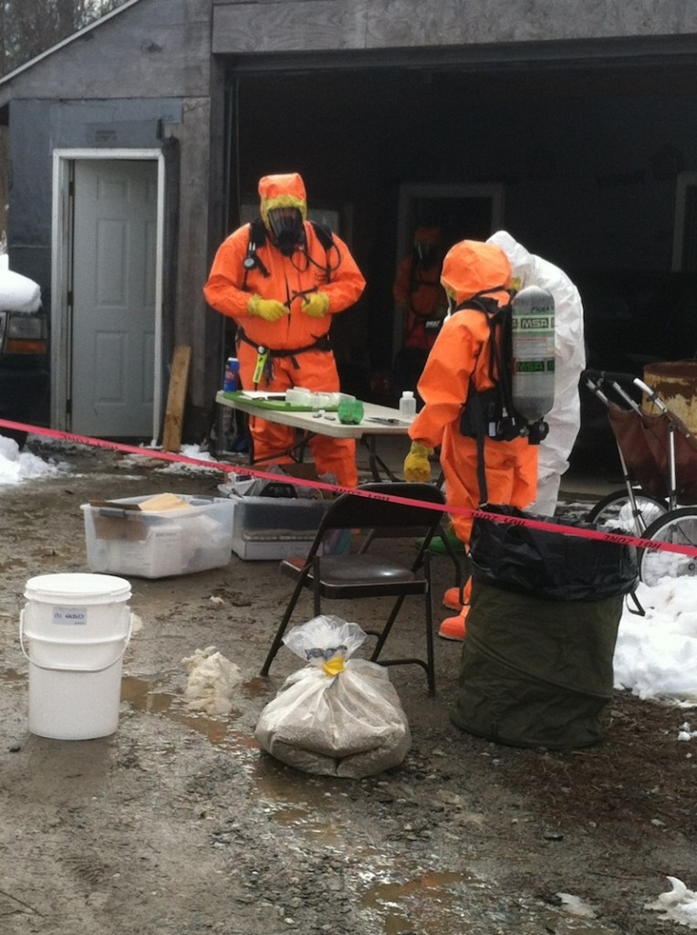 Maine drug agents raided a house in South Thomaston on Tuesday morning, Feb. 26, 2013 where they believe a methamphetamine lab was operating.