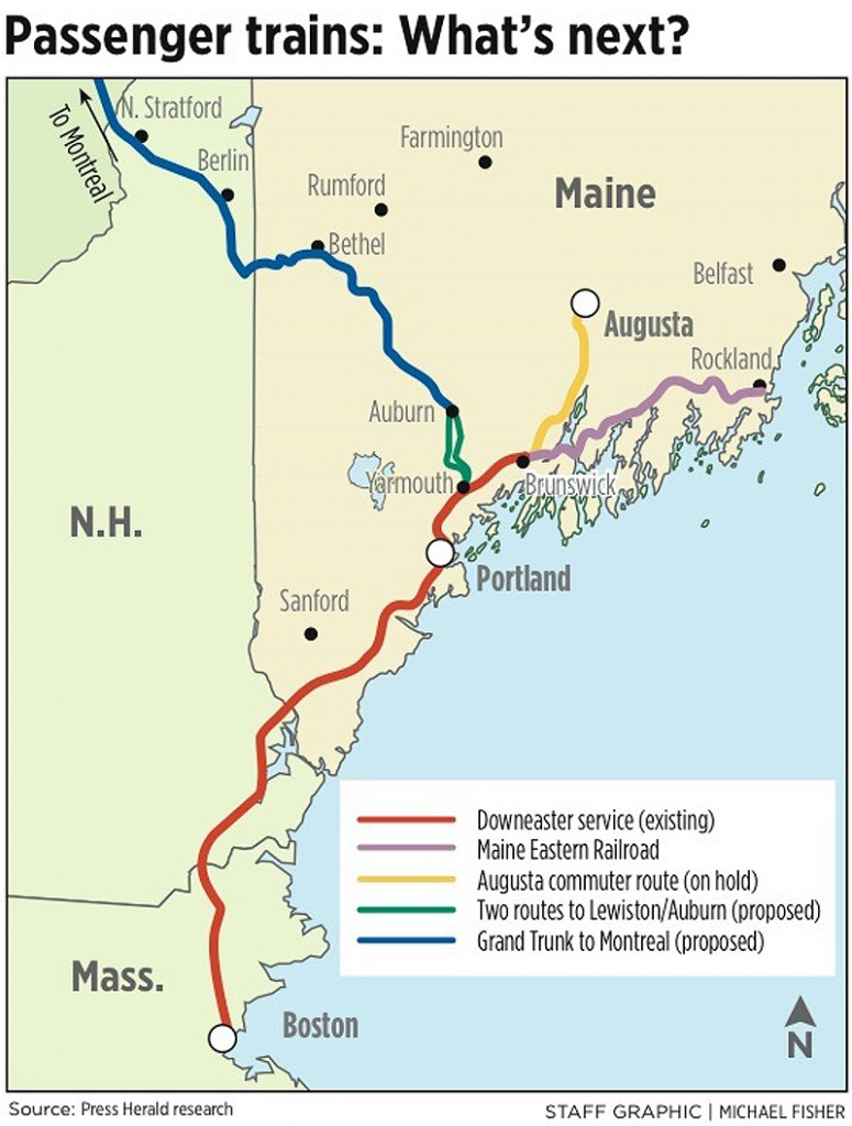 Expansion of passenger trains in Maine takes slow track   Portland