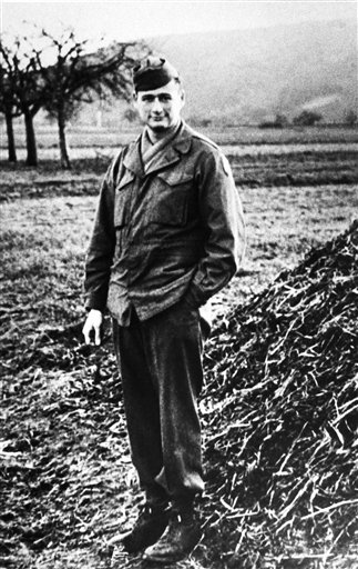 This 1944 file photo shows Ed Koch during his service in the U.S. Army in France.