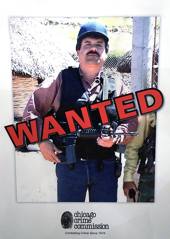 "A poster at a Chicago Crime Commission conference in Chicago shows Mexican drug lord Joaquin ""El Chapo"" Guzman. It is the first time since Prohibition that anyone other than the infamous 1930s gangster Al Capone has been named Public Enemy No. 1."