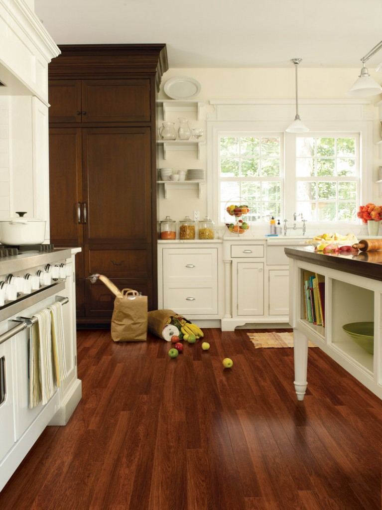 Brazilian Cherry wood was the inspiration for Mannington's Jatoba vinyl flooring.