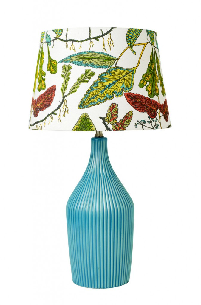 "From Target's Threshold spring decor line, a lamp in one of the season's ""statement"" colors."