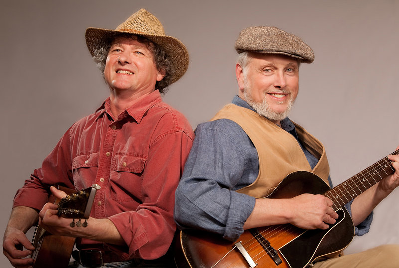 Dave Peloquin and Bob Webb will perform traditional American music at the Library Coffeehouse in Camden at 7 p.m. Thursday.