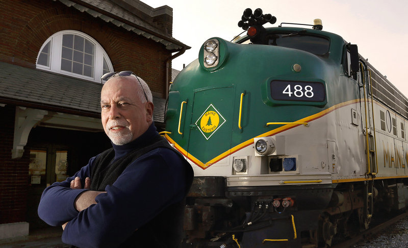 "Gordon Page Sr., director of passenger rail operations, Maine Eastern Railroad: ""It's unfortunate that when the Downeaster has expanded service to Brunswick, we're considering having to reduce service."""