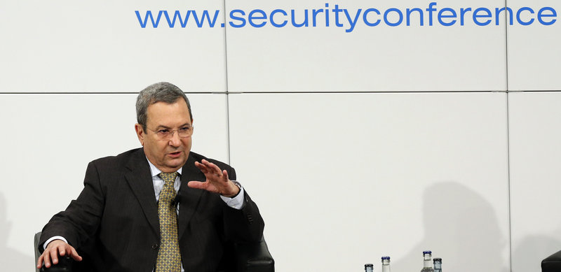 Israeli Defense Minister Ehud Barak attends a high-level security conference Sunday in Munich, Germany. He came close to confirming that his country was behind the airstrike in Syria last week that hit a research center and a convoy.