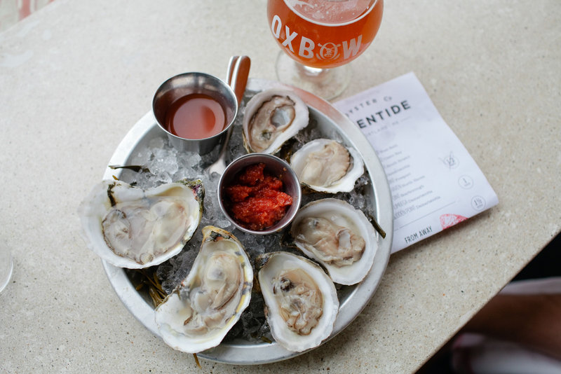 Blogger Meredith Perdue shared a photo that she took of oysters at Eventide in Portland. Perdue never uses a flash and always asks the wait staff for permission before using her camera. Other photos taken by Perdue can be seen below.
