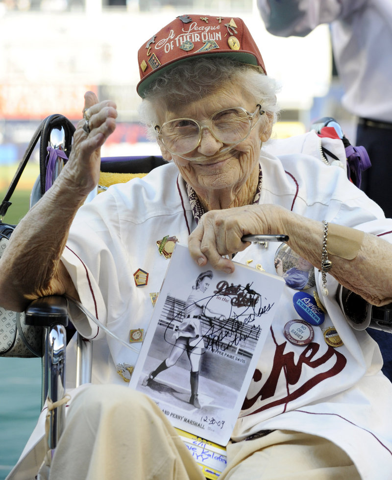 "Lavone ""Pepper"" Paire Davis, a star of the All-American Girls Professional Baseball League in the 1940s and an inspiration for the movie ""A League of Their Own,"" has died in California."