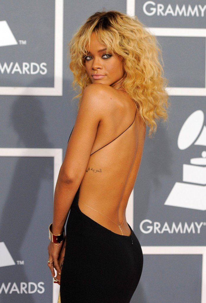 Rihanna showed quite a bit of skin at last year's annual Grammy Awards.