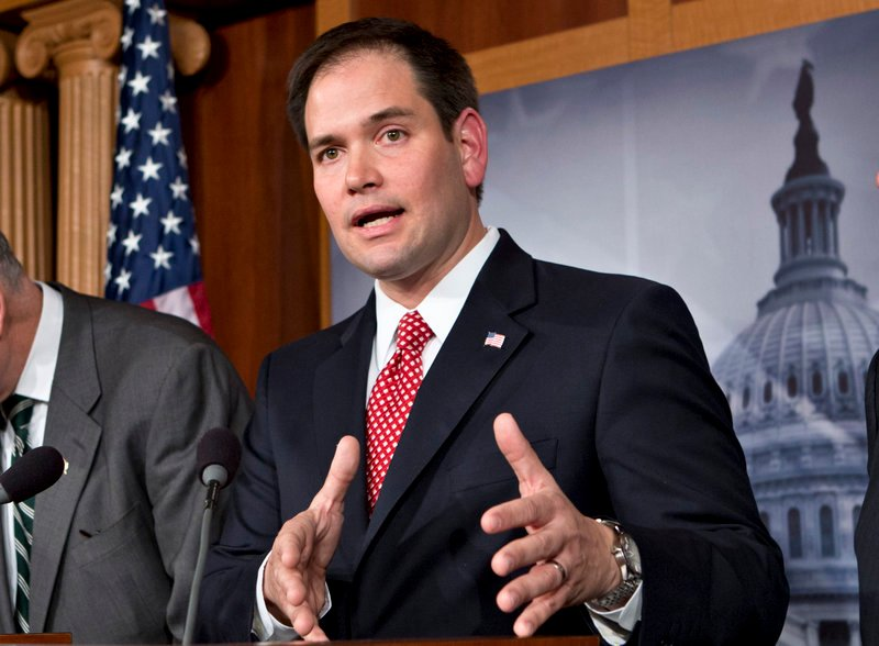 "Sen. Marco Rubio, R-Fla., questions whether ""man-made activity"" is contributing most to global warming."