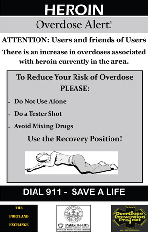 "The city's posters alert users to heroin's dangers and suggest ways to lessen the chances of a fatal overdose. The warnings ""target a group of people for whom the standard anti-drug programs clearly failed,"" a reader says."