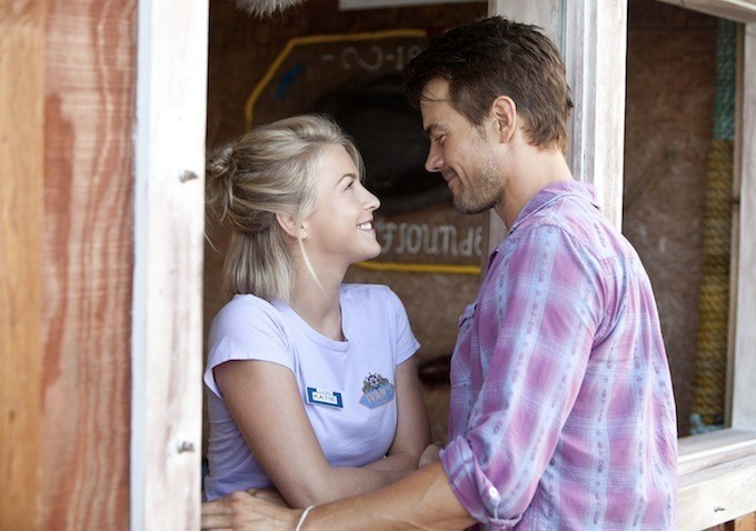 "Julianne Hough plays a mysterious new arrival in a small North Carolina town, and Josh Duhamel is a local store owner still grieving the loss of his wife in ""Safe Haven."""