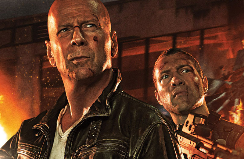 "Bruce Willis, left, and Jai Courtney are father and son John and Jack McClane in the latest in the ""Die Hard"" action series, ""A Good Day to Die Hard."""